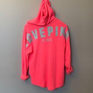 NEW VS PINK tunic hoodie sweatshirt